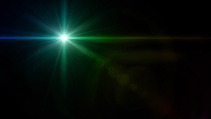 twinkle star cross lens flare green