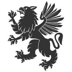Black Heraldic Griffin02