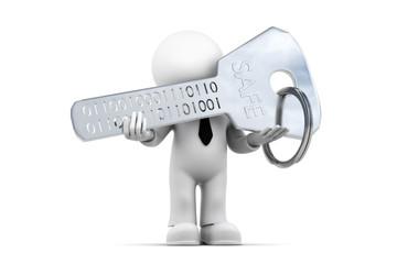 Figur mit Binärschlüssel