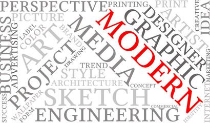 Modern Business Word Cloud