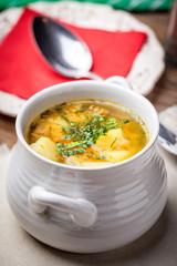 Buckwheat soup.