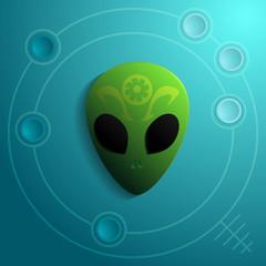 Alien Head Vector Icon