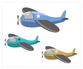 Cartoon military airplanes