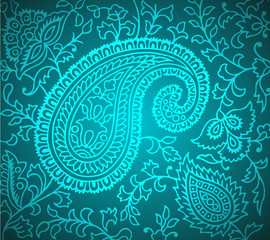 Vector Paisley Pattern Illustration
