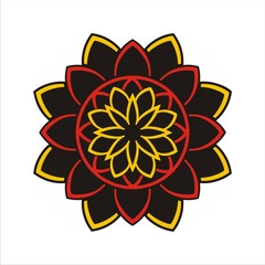 MANDALA YELLOW RED