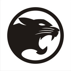 Wall Mural - Panther Black circle