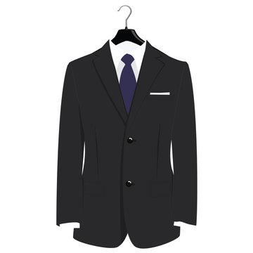 Suit on hanger