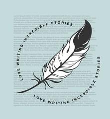 Writing feather emblem