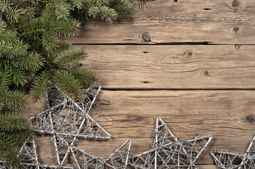Branch of a Christmas tree with Christmas star