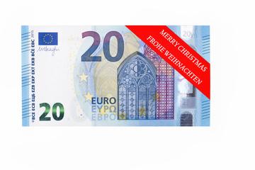 20 Euroschein mit Geschenkband.