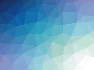 Blue gradient polygon shaped background
