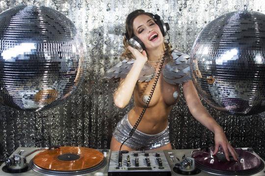 mrs discoball DJ