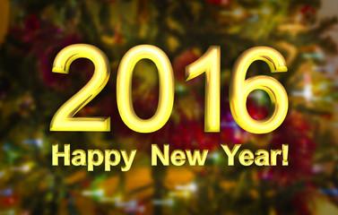 postcard - Happy New Year 2016