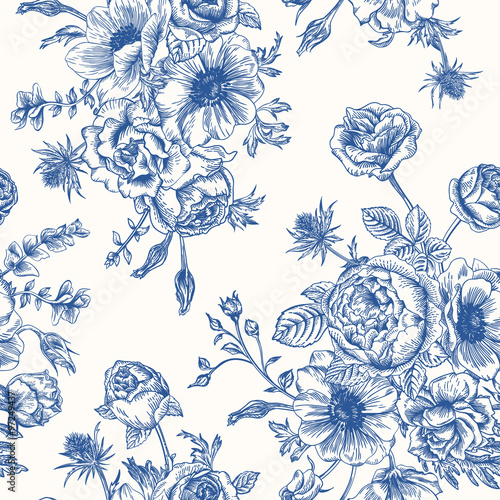 Quot Seamless Floral Pattern Quot Stock Image And Royalty Free