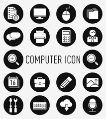 set of computer icon