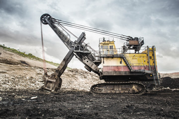Excavators in coal mines