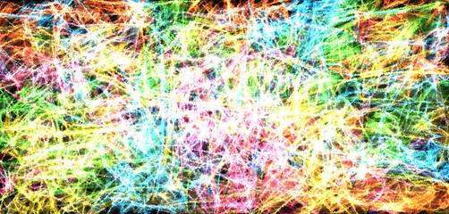 Hintergrundbild: Abstrakte Kunst, dynamisch, farbenfroh, Querformat