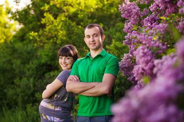 Pregnant Couple outdoor