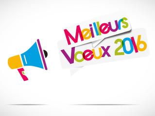 mégaphone : meilleurs voeux 2016