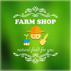 Vintage farm shop badge