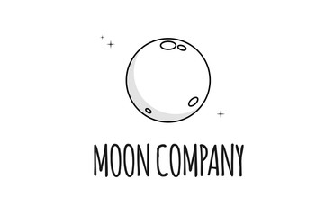The moon vector logo