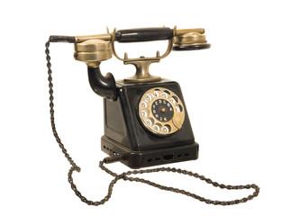 altes antikes wählscheiben-telefon um 1900