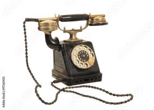 altes antikes w hlscheiben telefon um 1900 stockfotos. Black Bedroom Furniture Sets. Home Design Ideas