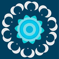 Vector round abstract circle.