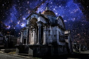 Pantheon and Small Magellanic Cloud (Elements of this image furn