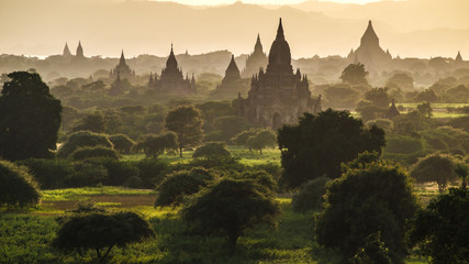 Bagan at sunset, Myanmar