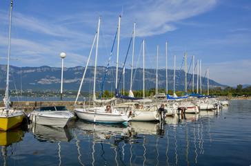 Port sur le lac du bourget à Aix les Bains, Savoie