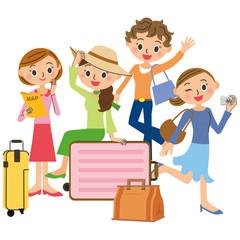 友達と旅行
