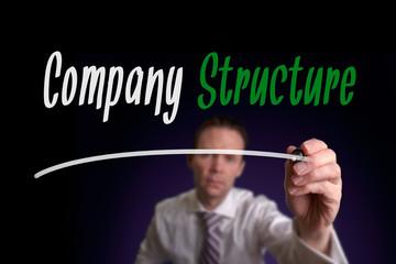 Company Structure Concept.