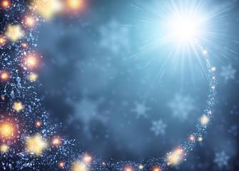 Blue sparkling background.