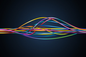 Colorful flowing lines, eps10 vector