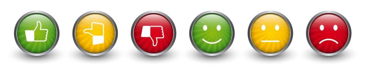 Bewertung Buttons