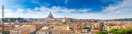 Fototapete Rome and Basilica of St. Peter in Vatican