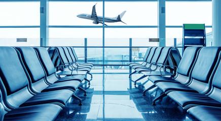 Fotobehang Luchthaven Airport chair