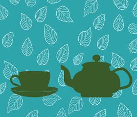 Backgrounw of Tea Pot