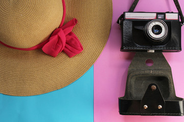 Hat and camera