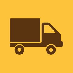 The truck icon. Delivery and shipping symbol. Flat
