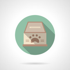 Fundraising for animal shelter flat vector icon