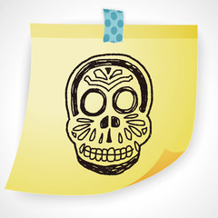 mexican skull doodle