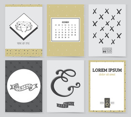 Collection of Cards or Brochure Design Templates.