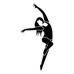 Unique dance simple icon