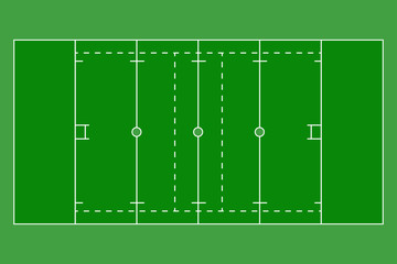 American football field. Top view.