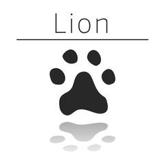 Lion animal track