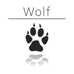 Wolf animal track