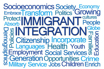 Immigrant Integration Word Cloud