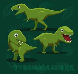 Dinosaur Tyrannosaurus Cartoon Vector Illustration